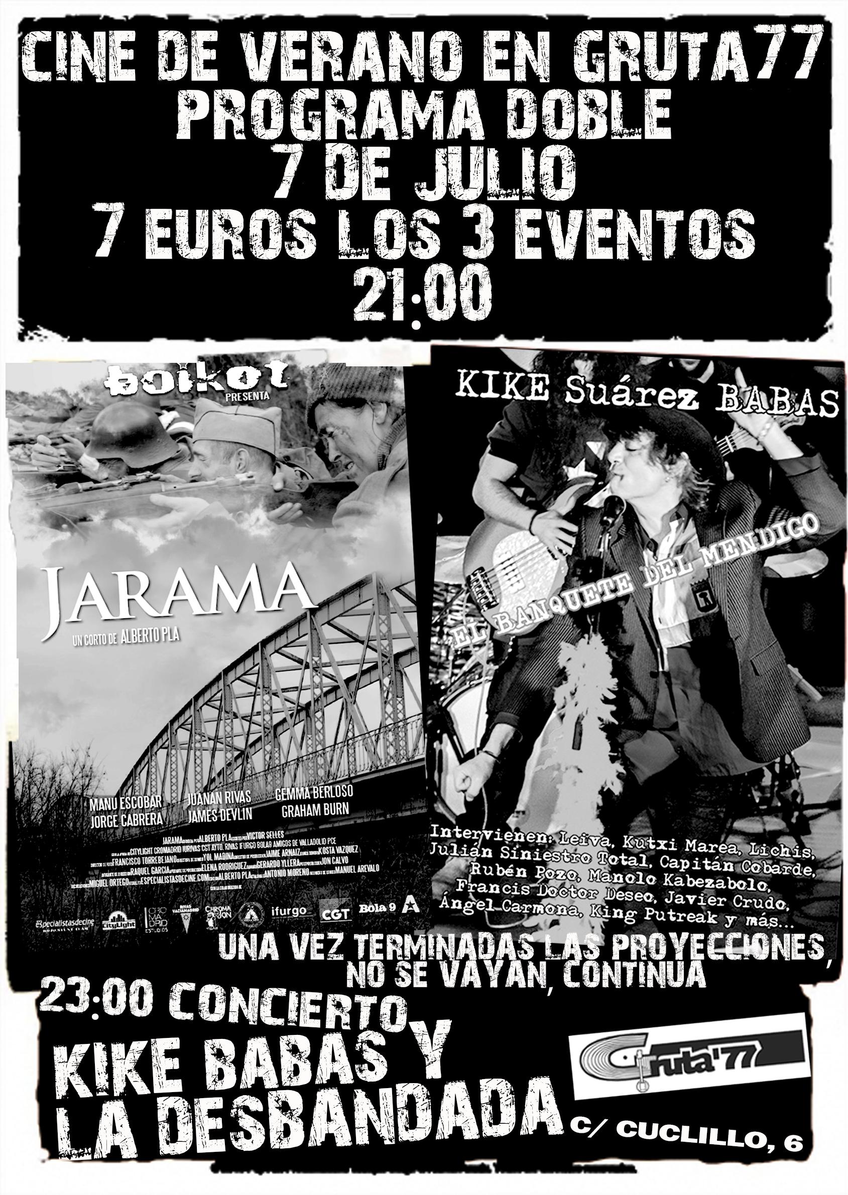 Cartel Gruta 77. 2017